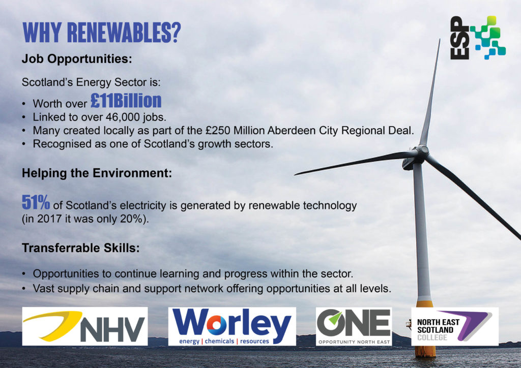 STEP Into Renewables information flyer for North East