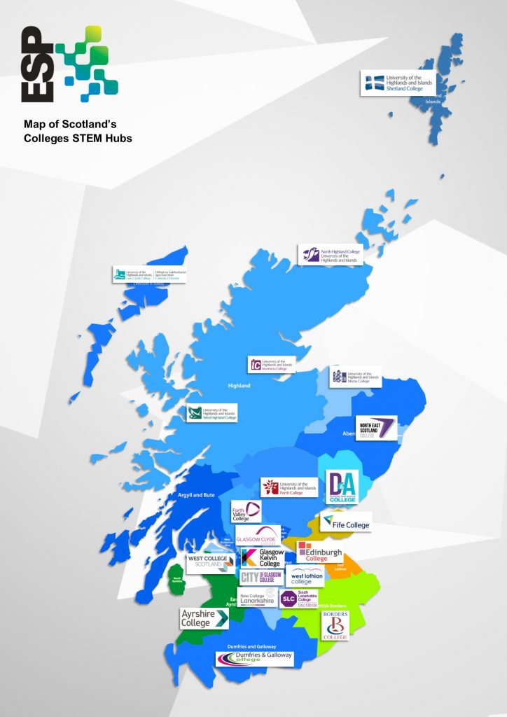 Map Scotland's STEM Hubs